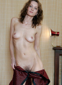 Tall hairy pussy housewife De-Ann with puffy nipples and petite sexy ass