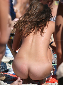 Nude beach girls perfect asses